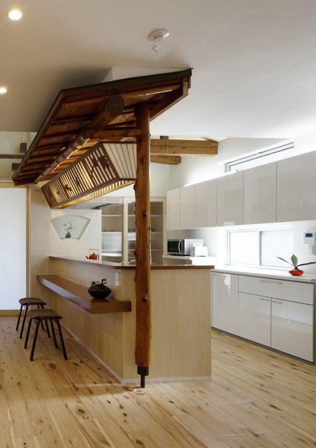 中式风格别墅厨房吧台装修效果图