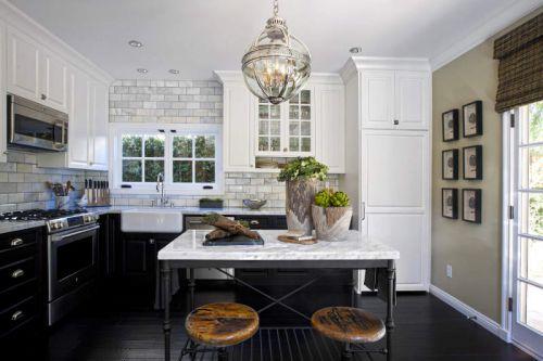 欧式风格典雅明净厨房装修实景图