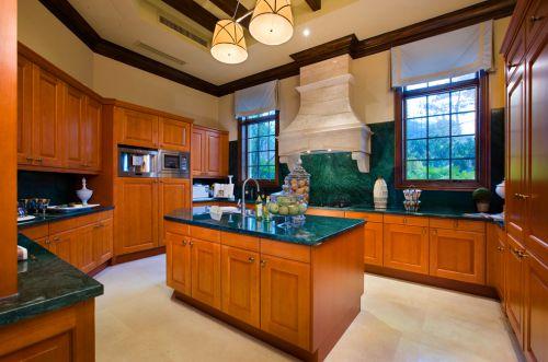 欧式橙色系收纳型厨房装修效果图