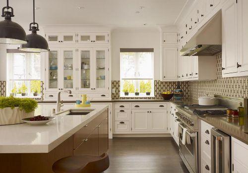 白色整洁欧式风格厨房橱柜装修实景图