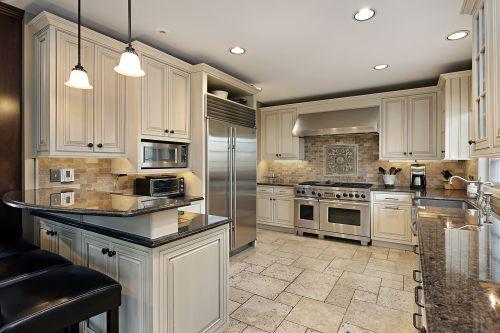 低调奢华白色欧式风格厨房装修效果图