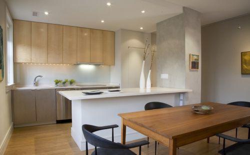 98㎡米色欧式风厨房橱柜装修效果图