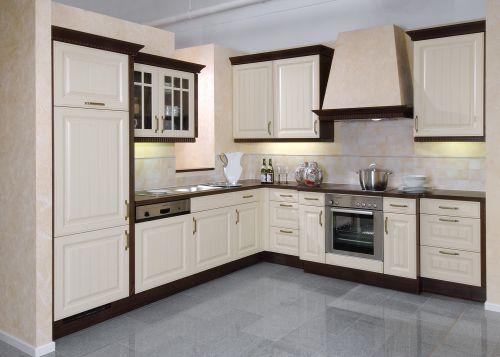 白色经典欧式厨房装修效果图