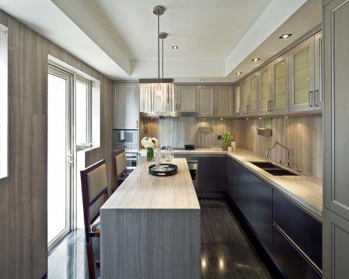欧式风格三居室原木色厨房装修效果图