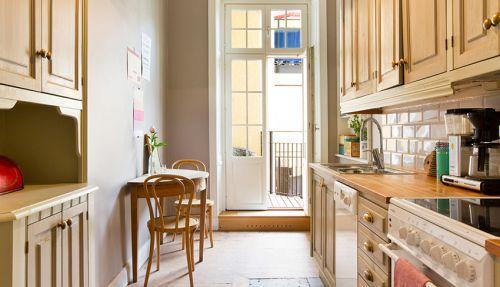 115平欧式风格粉色厨房效果图