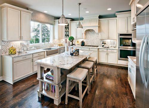 白色气质欧式风格厨房装修实景图