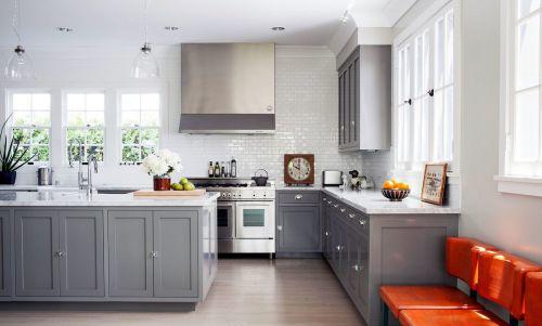 欧式风格厨房橱柜装修实景图