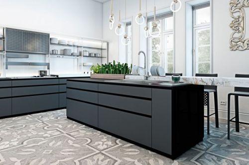 奢华大气欧式风格开放式厨房效果图