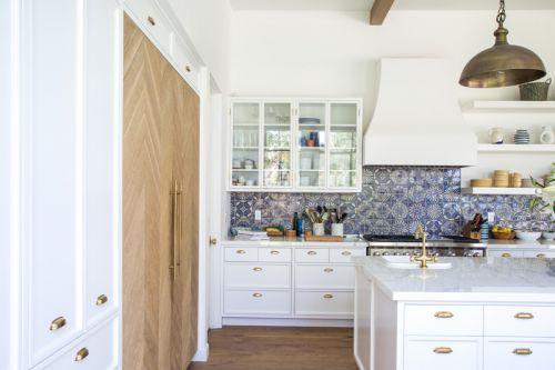典雅温馨欧式风格厨房背景墙效果图