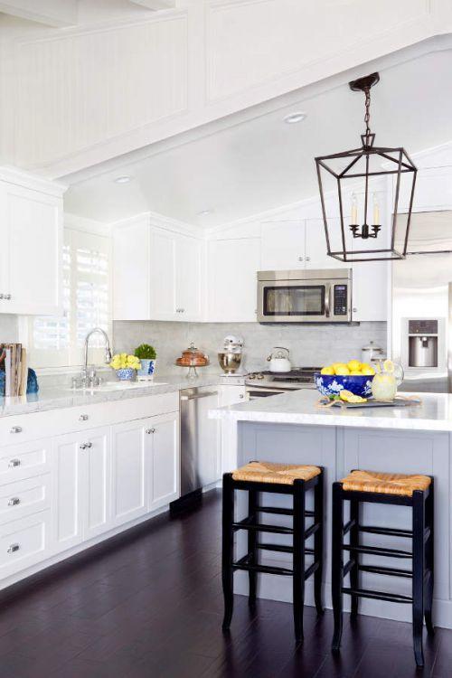 开放大气欧式风格白色厨房装修实景图