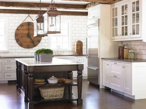 欧式风格古朴雅致厨房装修实景图