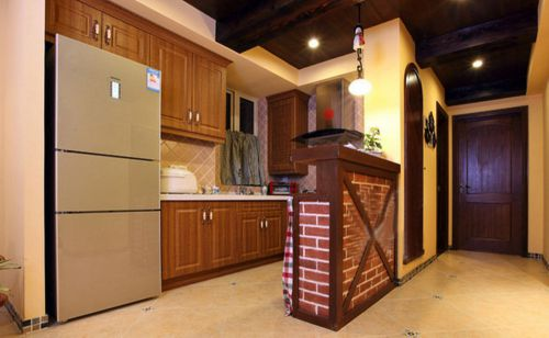 欧式田园风格一居室厨房装修效果图大全