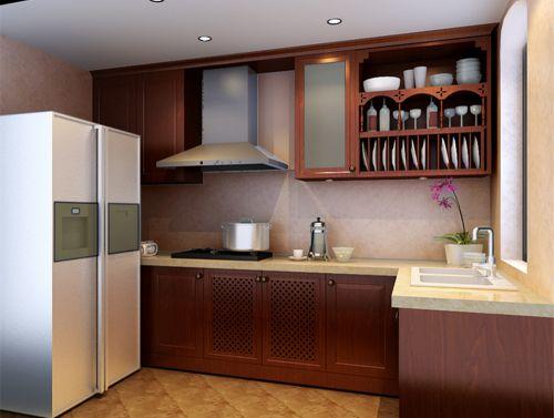 欧式风格二居室厨房装修图片