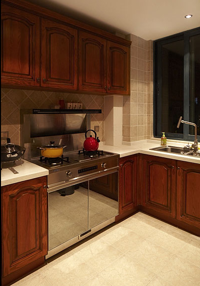 简约欧式风格三居室厨房装修效果图大全