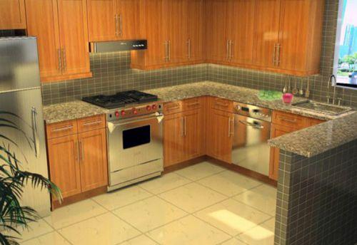 欧式三居室厨房装修效果图