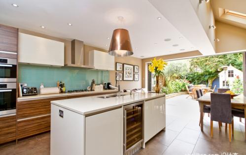 欧式风格三居室厨房装修图片