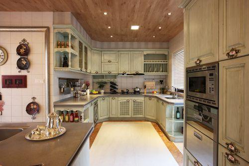 高端大气欧式别墅厨房效果图