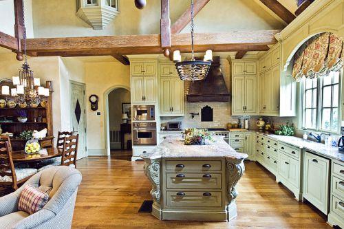 欧式风格别墅开放式厨房装修设计图