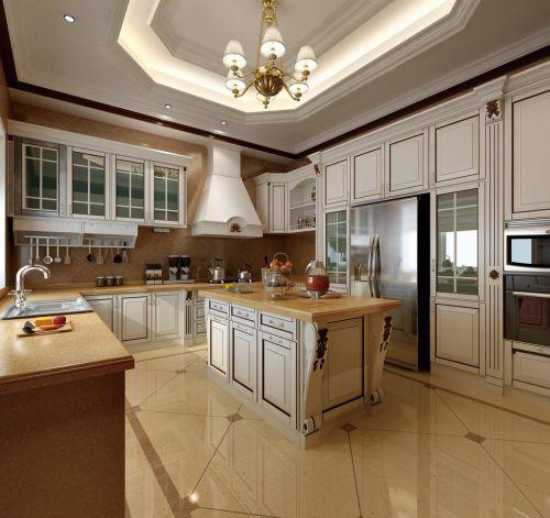 复古清新欧式风格厨房橱柜组合柜设计
