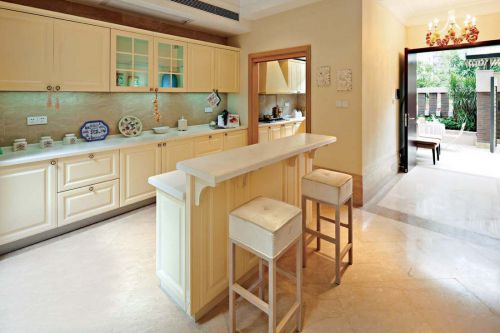别墅田园风格厨房橱柜小吧台