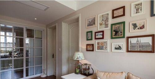 田园风格二居室厨房推拉门装修效果图大全