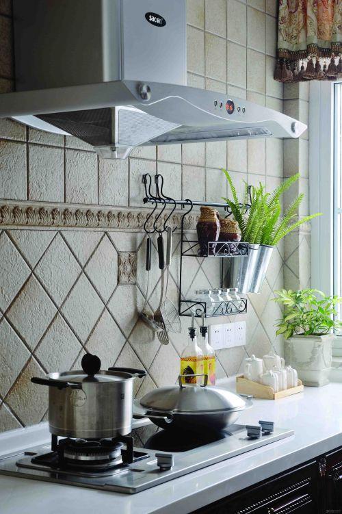 田园风格厨房装修实景图