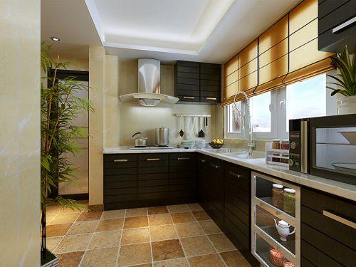 田园风格四居室厨房橱柜装修效果图