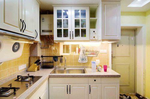 小两居田园风格开放式厨房