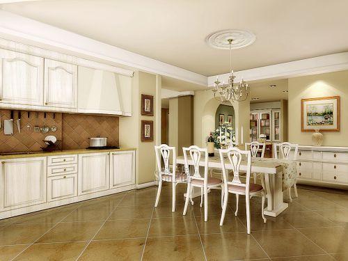 田园风格三居室厨房装修效果图欣赏