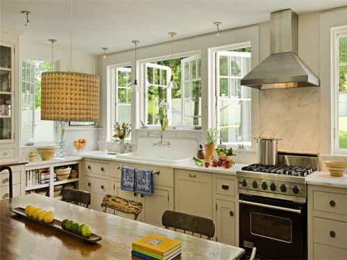 田园风格四居室厨房灯具装修效果图