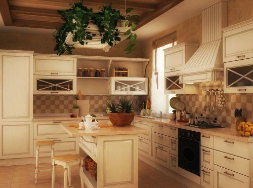 唯美居家田园风格厨房装修设计