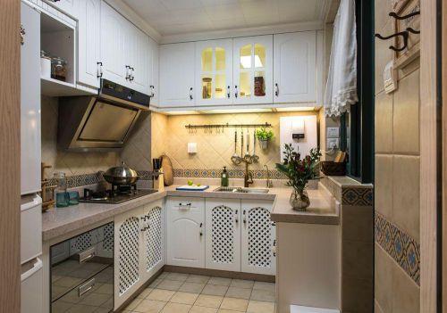 白色清新田园风格小厨房