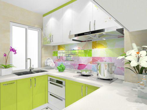 田园风格二居室厨房灯具装修效果图大全