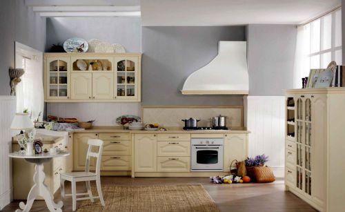 米色公寓田园风格厨房
