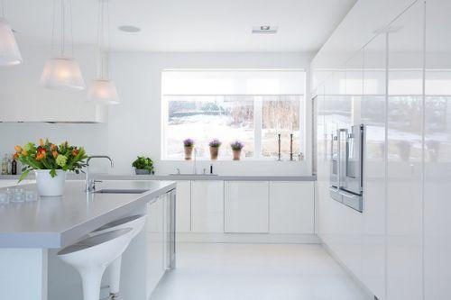 二居室田园风格厨房吧台装修设计效果图