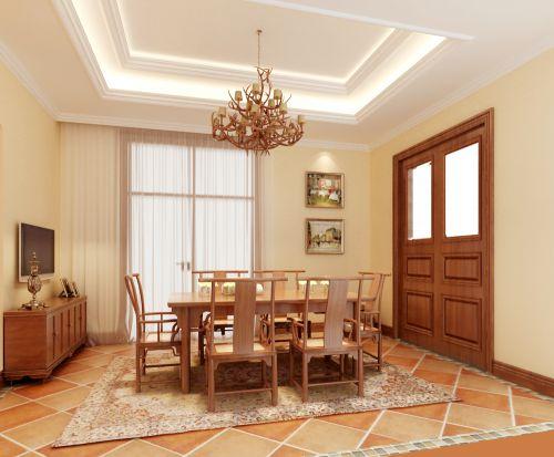 田园风格六居室以上厨房吊顶装修效果图欣赏