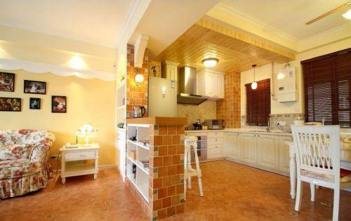 田园风格二居室厨房装修图片欣赏