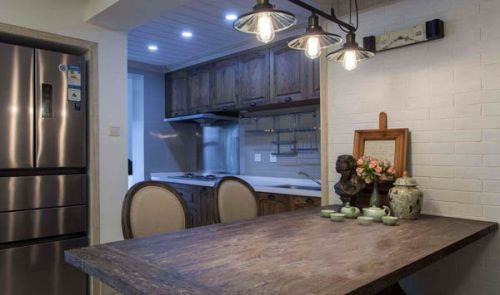 田园风格一居室厨房吊顶装修图片