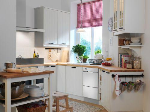 田园风格小户型开放式厨房设计效果图