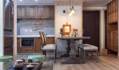 田园风格一居室厨房吊顶装修效果图大全
