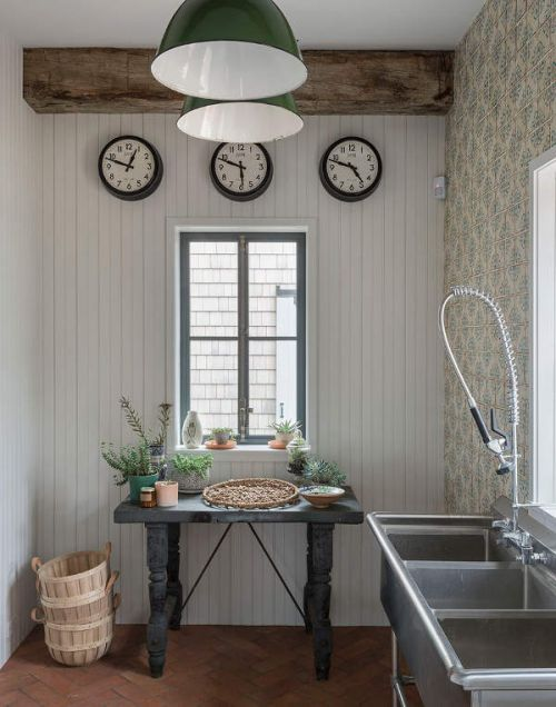 田园风格清新温暖厨房装修设计图