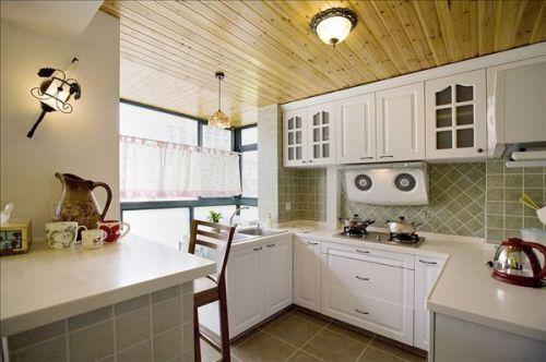 田园风格三居室厨房装修效果图大全