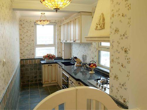 田园风格一居室厨房吊顶装修效果图欣赏
