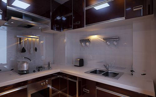 田园风格二居室厨房隔断装修效果图欣赏