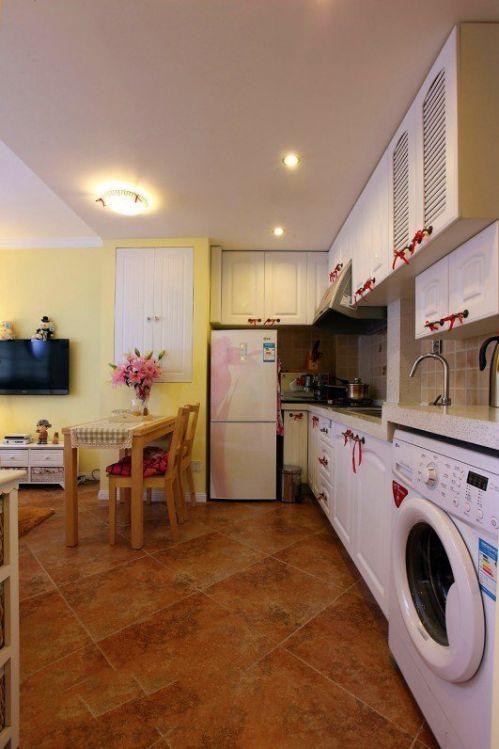 欧式田园一居室厨房装修效果图大全