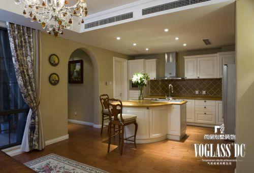 田园风格五居室厨房飘窗装修效果图欣赏