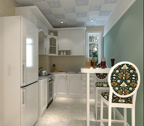 田园风格一居室厨房装修效果图大全