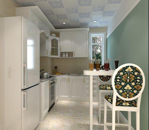田园风格一居室厨房装修效果图