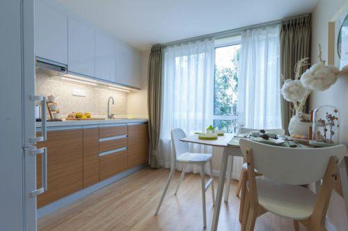 田园风格二居室厨房橱柜装修图片