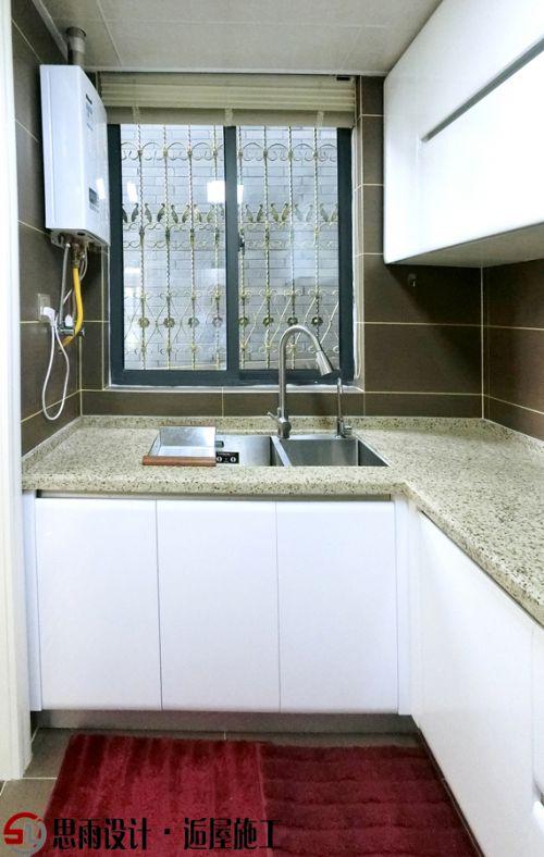 田园风格三居室厨房橱柜装修效果图大全